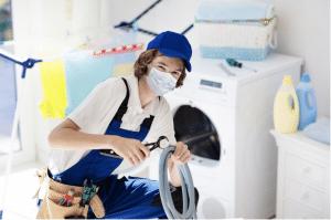 Man working on dryer